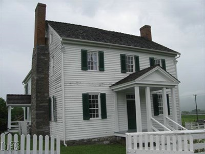 The Bushong house was caught in the middle of the Battle of New Market.