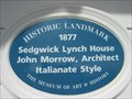 Image for Blue Plaque: Sedgwick Lynch House