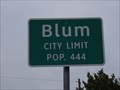 Image for Blum, TX - Population 444