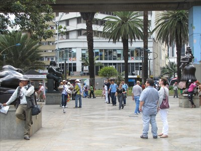 Botero Plaza Fountain, East End of Plaza, Medellin, Colombia