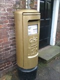 Image for Charlotte Dujardin Gold Post Box - Church Street, Newent, Gloucestershire