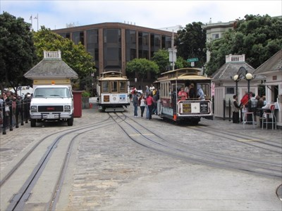Cable Cars at the Turnaround, San Francisco, CA