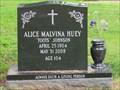 Image for 104 - Alice Malvina Huey - Lakeside Cemetery - Folsom, CA