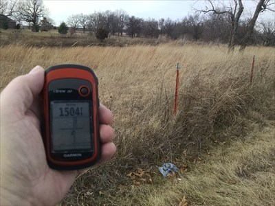 Highest Point in Lawrence County, by MountainWoods.  We are looking northeast from the waymark coordinates with my GPSr showing 1504 feet, which is not bad.