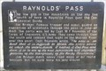 Image for Raynolds' Pass