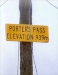 Image for Porters Pass - 939m.   South Is. New Zealand.
