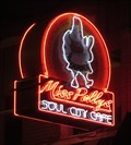 Image for Miss Polly's Cafe - Artistic Neon - Memphis , Tennessee, USA.