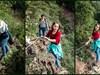 Exemplarische Kletterstelle am Calmont-Klettersteig