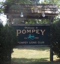 Image for Welcome sign - Pompey, NY