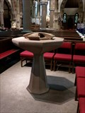 Image for Futuristic Font - St Peters Church - Harrogate, North Yorkshire, Great Britain.