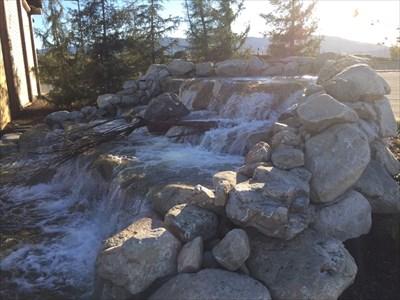 Side View of Waterfall, San Jose, California