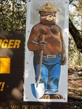 Image for Smokey Bear Sign at Panther Canyon Nature Trail Trailhead - Landa Park in New Braunfels, TX USA