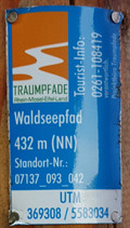 Image for UTM 369308 / 5583034 - Waldseepfad - Rieden, RP, Germany