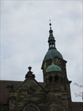 Image for Tower clock on the Evangelical Lutheran Church, Pegnitz, Bayern, Germany
