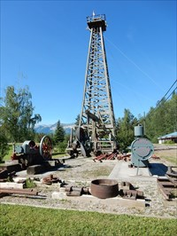 Bon Echo visited LAST - Standing Wooden Oil Derrick in BC