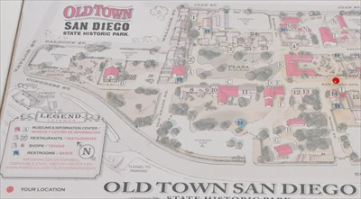 Old Town San Diego Locator Map You Are Here Maps On Waymarking Com