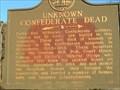 Image for Unknown Confederate Dead - GHM 066-4