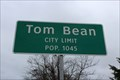 Image for Tom Bean, TX - Population 1045