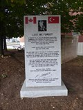 Image for Fallen Soldiers in Gallipoli Monument - Halifax, Nova Scotia, Canada