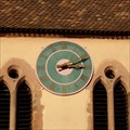 Image for Clock at the Church of Our Lady of Seven Pains, Kientzheim, Haut-Rhin/FR