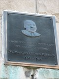 Image for Quinn Chapel of the A.M.E. Church Dr. Martin Luther King plaque - Chicago, IL
