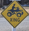 Image for 600 North ATV Crossing Sign #2