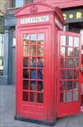 Image for Red Telephone Box - Universal Studios - Orlando, Florida, USA.