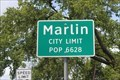 Image for Marlin, TX - Population 6628