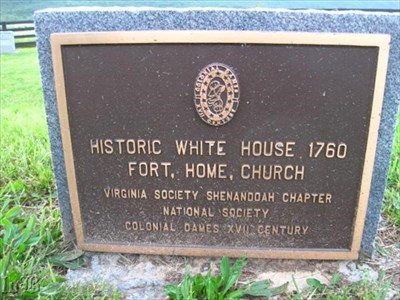 A memorial plaque to the Historic White House 1760 stands near the CWDT marker.