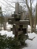 Image for Railroad-tie sculpture - Binghamton, NY