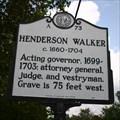 Image for Henderson Walker, Marker A-73