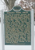 Image for Durant Park / Durant Park Arch - Lansing, Mi