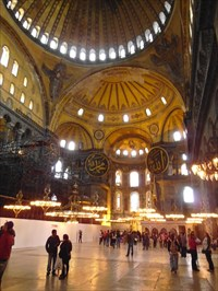 Hagia Sophia (Interior of the Hagia Sophia) - Istanbul, Turkey ...