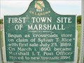 Image for First Town Site - Marshall, OK