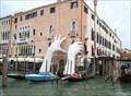 "Image for Lorenzo Quinn's ""Support"" at Historic Ca' Sagrado - Venezia, Italy"