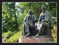 Image for Father (Antonín Zeman aka Antal Stašek) and Son (Kamil Zeman aka Ivan Olbracht) statuary - Semily, Czech Republic
