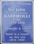 Image for Sir John Barbirolli - Marchmont Street, London, UK