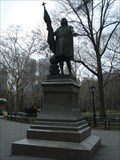 Image for Christopher Columbus - Columbo Lunar Crater; Statue in Central Park