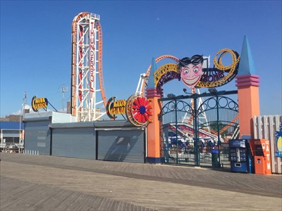 Scream Zone Entrance (West), Coney Island, Brooklyn, New York