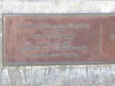 Woodward Avenue (M-1) - Antoine de la Mothe Cadillac - Detroit, Michigan.