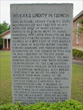 Image for Religious Liberty in Georgia - Appling, Georgia