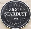 Image for Ziggy Stardust Black Plaque - Heddon Street, London, UK