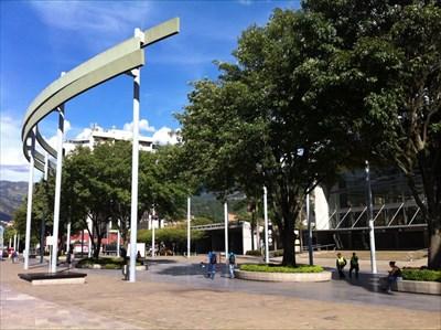 Plaza Mayor Entrance Arc, Medellin, Colombia