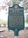 Image for First Marked Burial  - SCA – Smyrna Cobb Co., GA
