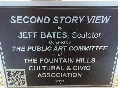Second Story View Sign, Fountain Hills, Arizona