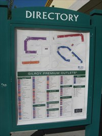 Gilroy Outlet Map Gilroy Premium Outlets