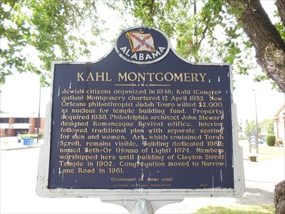 Kahl Montgomery side of the marker.