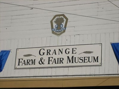 This is the sign that is over the entrances of the building.  The Grange has the building.