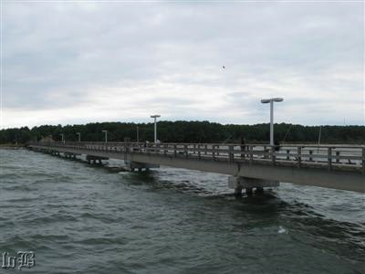 710 feet of fishing pier at Point Lookout State Park.