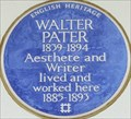 Image for Walter Pater - Earls Terrace, London, UK